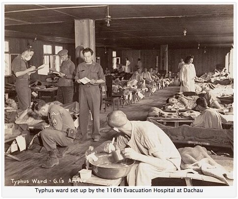 116th Evac Typhus Ward at Dachau