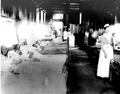 Spanish-American War ward with nurses