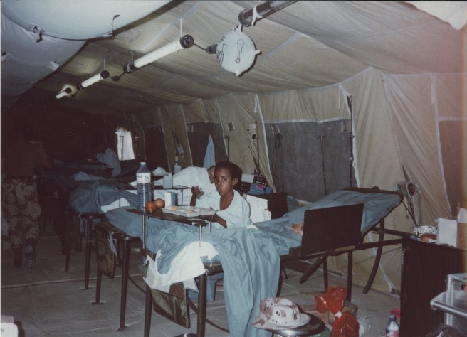 Mohaamed Nur, patient in 86th Evacuation Hosp., Somalia, 1993