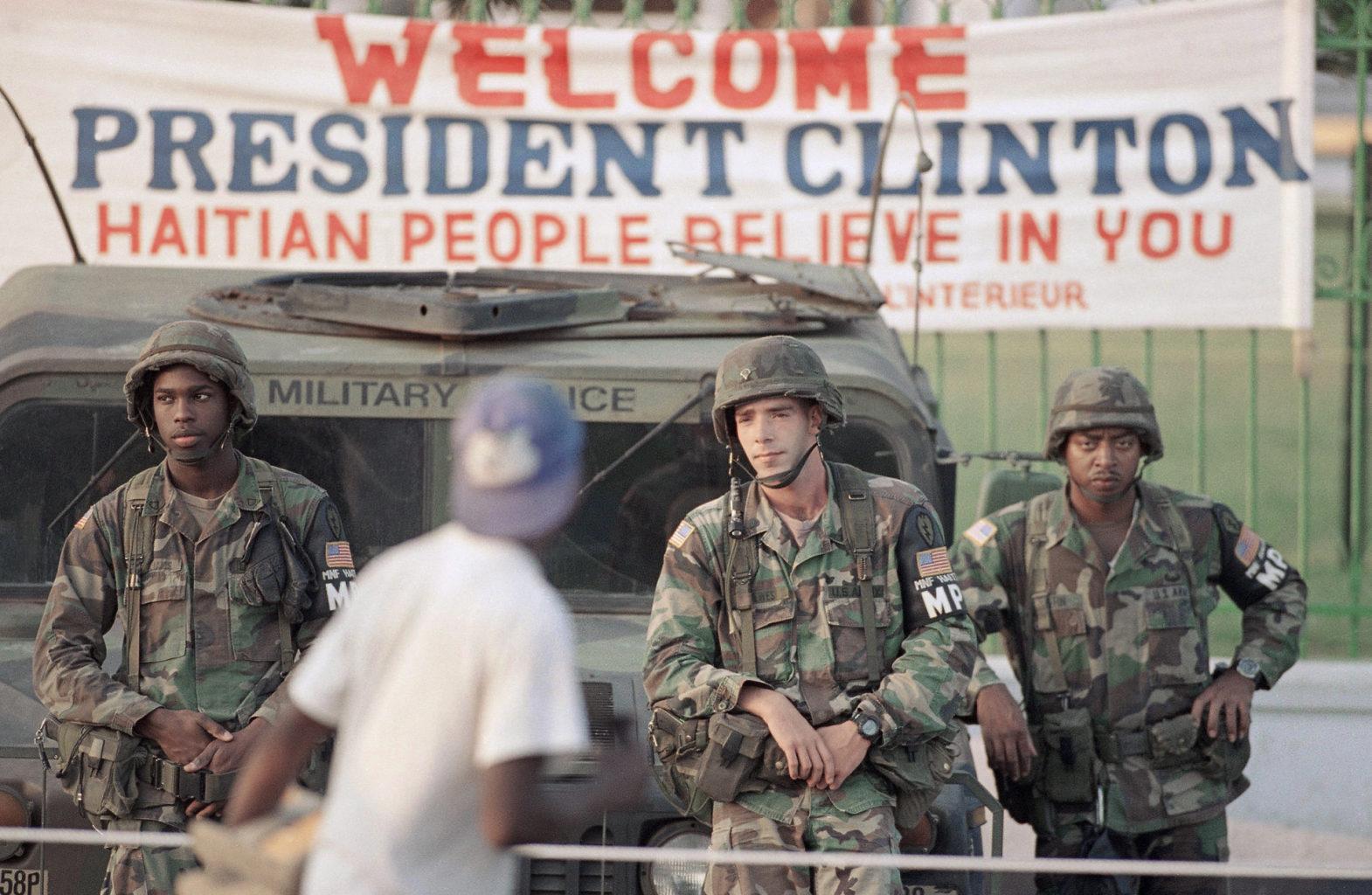 25th Division Military Police in Haiti as part of the multinational force,1994