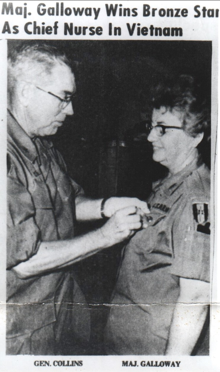 MAJ Galloway receives Bronze Star
